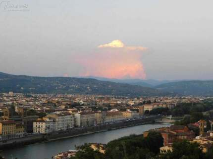 La vista su Firenze da Villa Bardni