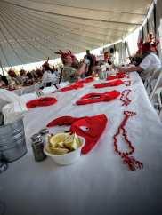 V. Sattui lobsterfest place settings
