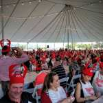 V. Sattui lobsterfest hat crowd