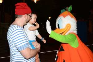 orlando in october donald hi five