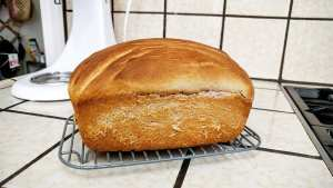 Ube Bread Baked Cool