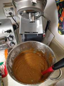 pumpkin bread dough