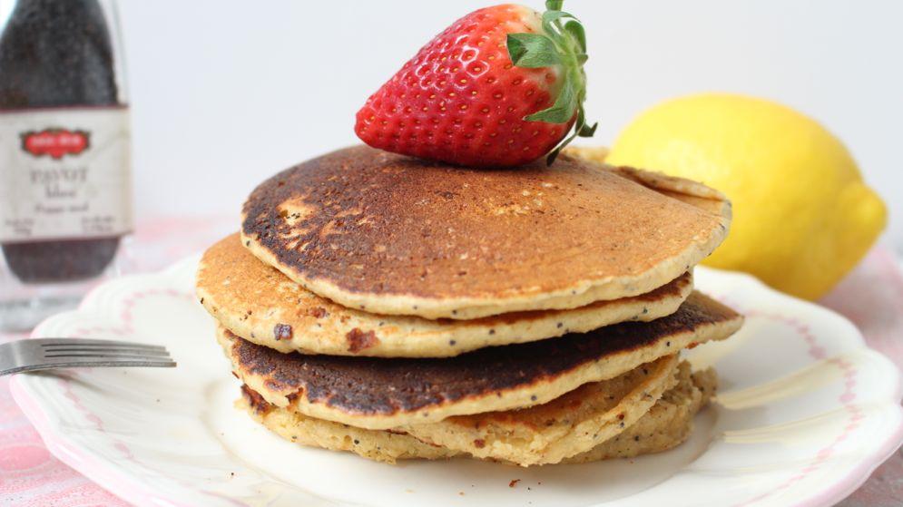 recette pancakes au graines de pavot et citron