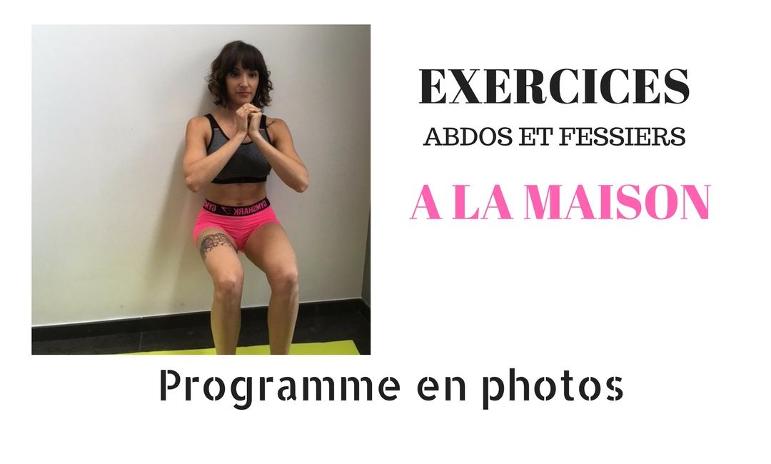 Ma routine fessiers et abdominaux fille fitness for Abdos fessiers a la maison