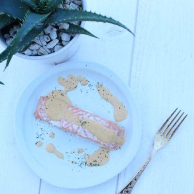 Ma recette du saumon avec sa sauce à la noix de cajou.