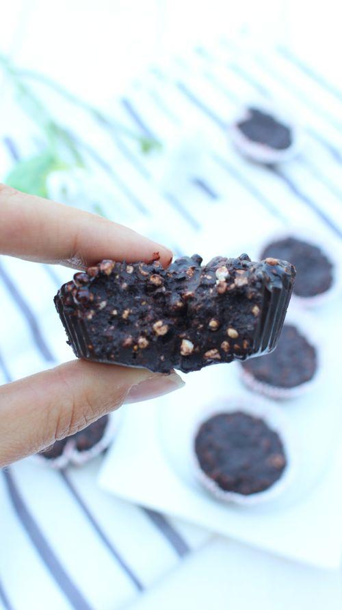 quinoa soufflé avec du chocolat