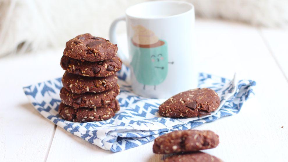 Cookies double chocolat et noix de coco