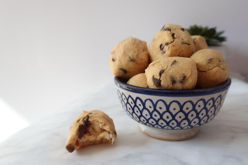 Recette cookie dough balls – base pois chiche