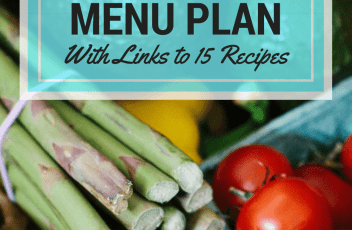 April 2016 Monthly Menu Plan | www.fillingthejars.com | Wow, it's time to create another monthly menu plan! I have found that planning and doing one big monthly shop saves my family at least $75/month. This month's plan also includes more crockpot-friendly recipes!