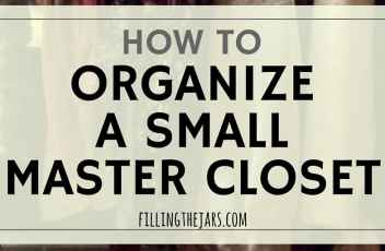How To Organize A Small Master Closet   Maybe you have a small closet or are thinking about downsizing. It really is possible to organize a small master closet to fit your entire wardrobe! Click through to find out how I organize everything in my very small master closet...  www.fillingthejars.com