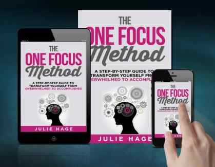The ONE FOCUS Method on Amazon | #stopthinkingstartdoing | #overthinker | #productivity | #onefocus