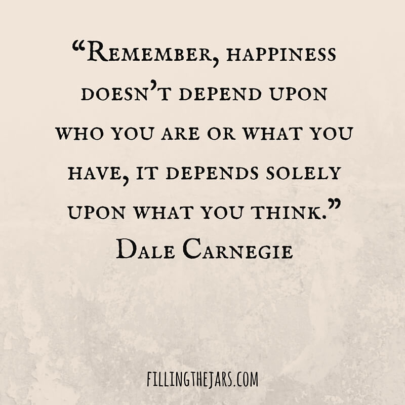 dale carnegie happiness quote text graphic