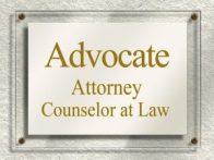 advocate sign