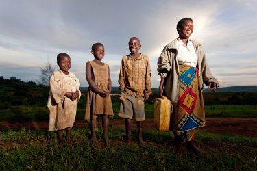 charity water, people enjoying clean water
