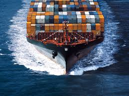 ship loading containers