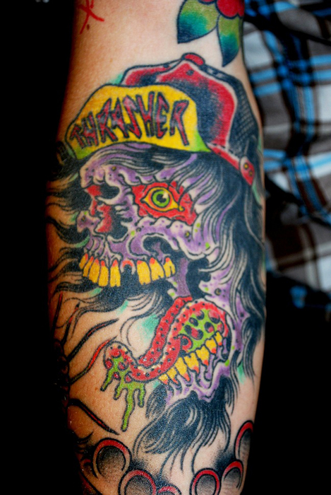 Tatuajes Skate Skateboard Tattoos Fillow