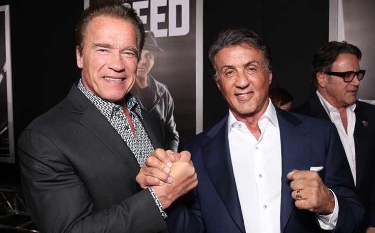 Arnold Schwarzenegger, Sylvester Stallone, Face/Off and a possible alternate reality.