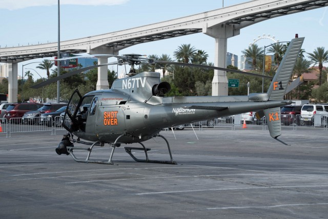 Shotover Helicopter in the lot at NAB 2015