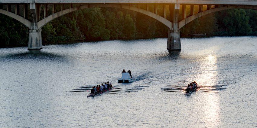 Sunrise Rowers. Austin, Texas -- Photographed with the Sony Alpha 6500