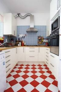 red-white-kitchen-floor-tiles - Film and Furniture