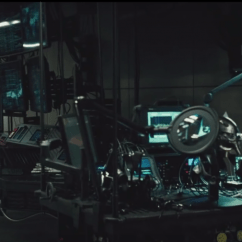 Anthro Ergonomic Verte Chair White Dining Chairs The Batman Exclusive: Black 'spine' In V Superman's Batcave - Film And ...