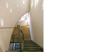 obra edificio russel escaleras