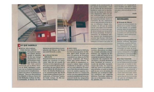 2003.02.20 El Cronista Arquitectura