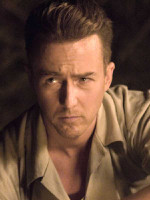 Edward Norton on set