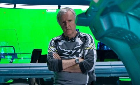 James Cameron on Avatar set