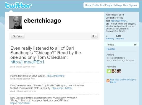 Ebert on Twitter