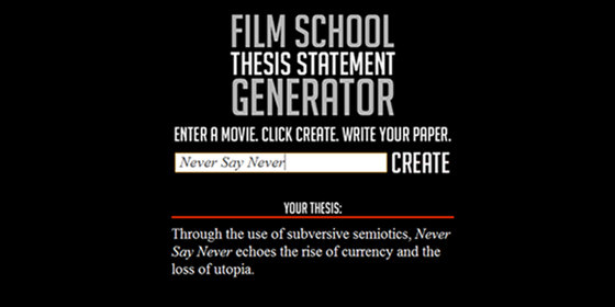 3 point thesis statement generator