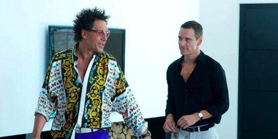 Javier Bardem and Michael Fassbender in The Counsellor