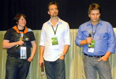Shorts directors (from l to r) Eva Weber (