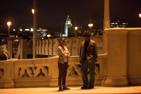 Carmen Ejogo & Denzel Washington in Roman J. Israel Esq.