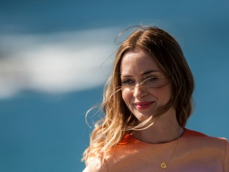 British actress Emily Blunt, poses for the media during a photocall to promote the film ''Sicarios'', at the 63rd San Sebastian Film Festival, San Sebastian, northern Spain, Saturday, Sept. 19, 2015. (AP Photo/Alvaro Barrientos)