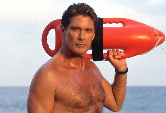 David Hasselhoff te zien in Baywatch film