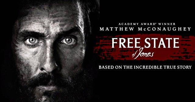 Nieuwe trailer Free State of Jones met Matthew McConaughey