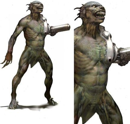 Raptorman op concept art Jurassic Park 4