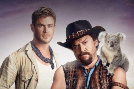 Chris Hemsworth naast Danny McBride in Dundee
