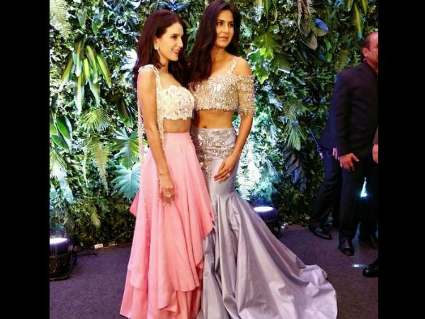 Image result for katrina and her sister in virat anushka reception