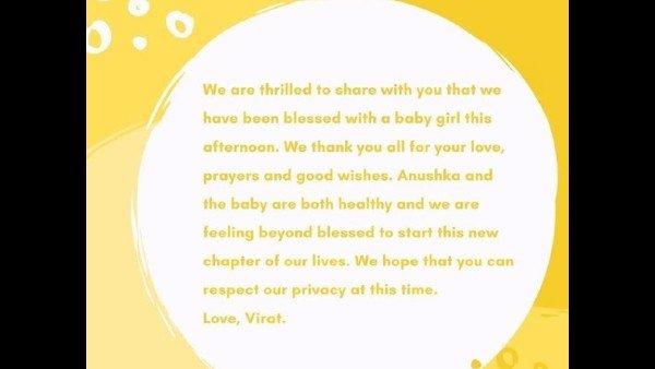 Elated Virat Kohli Makes An Official Announcement