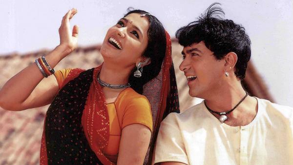 Aamir Khan and Gracy Singh in Lagaan