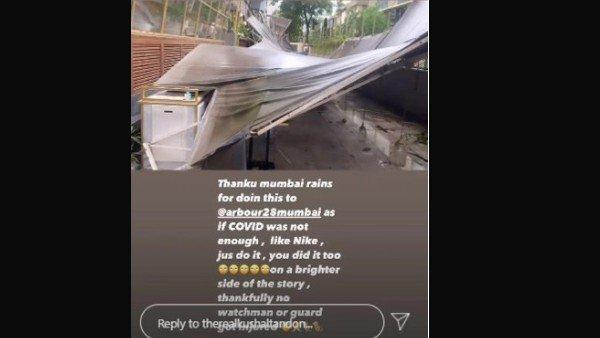 Kushal Tandons Restaurant Damaged