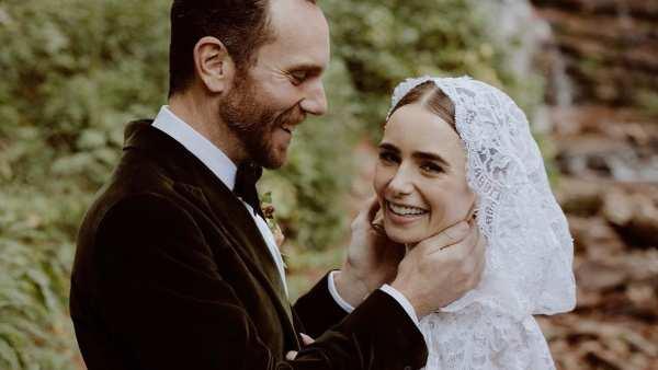 लिली कोलिन्स ने चार्ली मैकडॉवेल से अपनी गुप्त शादी की तस्वीरें साझा कीं;  कहते हैं कभी खुश नहीं रहे