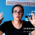Screenwriting (Video): How I Wrote My Script In One Month