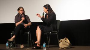 "Carolin Genreith (Regie)(l), Julia Teichmann (Interview)(r), Film ""Das Golddorf"""