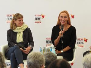 """Katharina Dufner und Andrea Sawatzki nach ihrem Film """"Casting""""."""