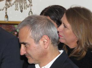 Olivier Assayas (l) und die Festival Direktorin Hrönn Marinósdóttir (r)