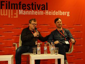 Regisseur Andres Maimik (l) und Schauspieler Rain Tolk.