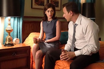 Lizzy Caplan as Virginia Johnson and Josh Charles as Dan Logan in Masters of Sex (season 3, episode 10) - Photo: Michael Desmond/SHOWTIME Photo ID: MastersofSex_310_0193